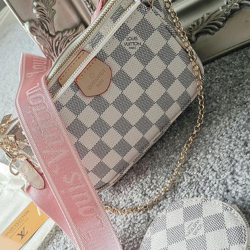Cream Inspired LV 3 Piece Bag