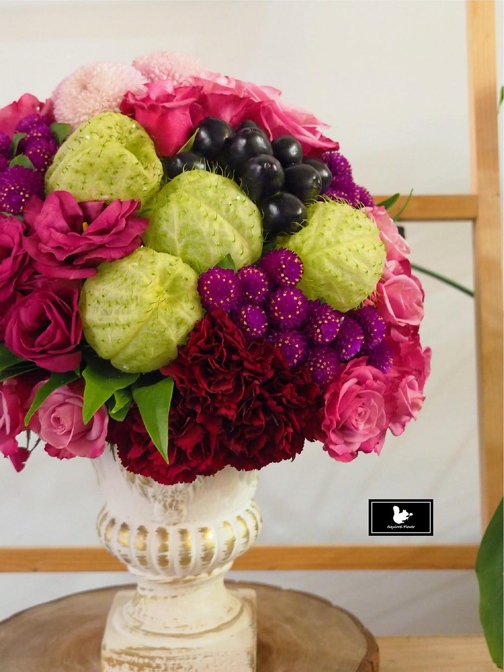 結構式組群盆花