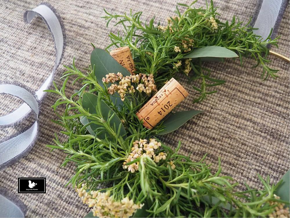 手扎香草葉圈 Herb Wreath