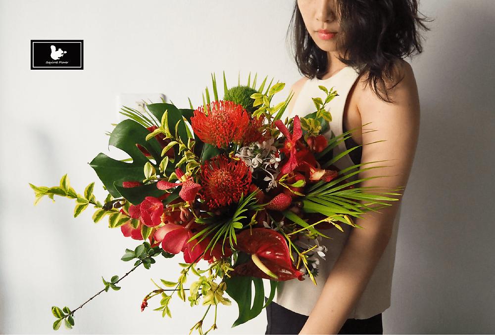熱帶島嶼風情 手綁花束 Tropical Island Bouquet