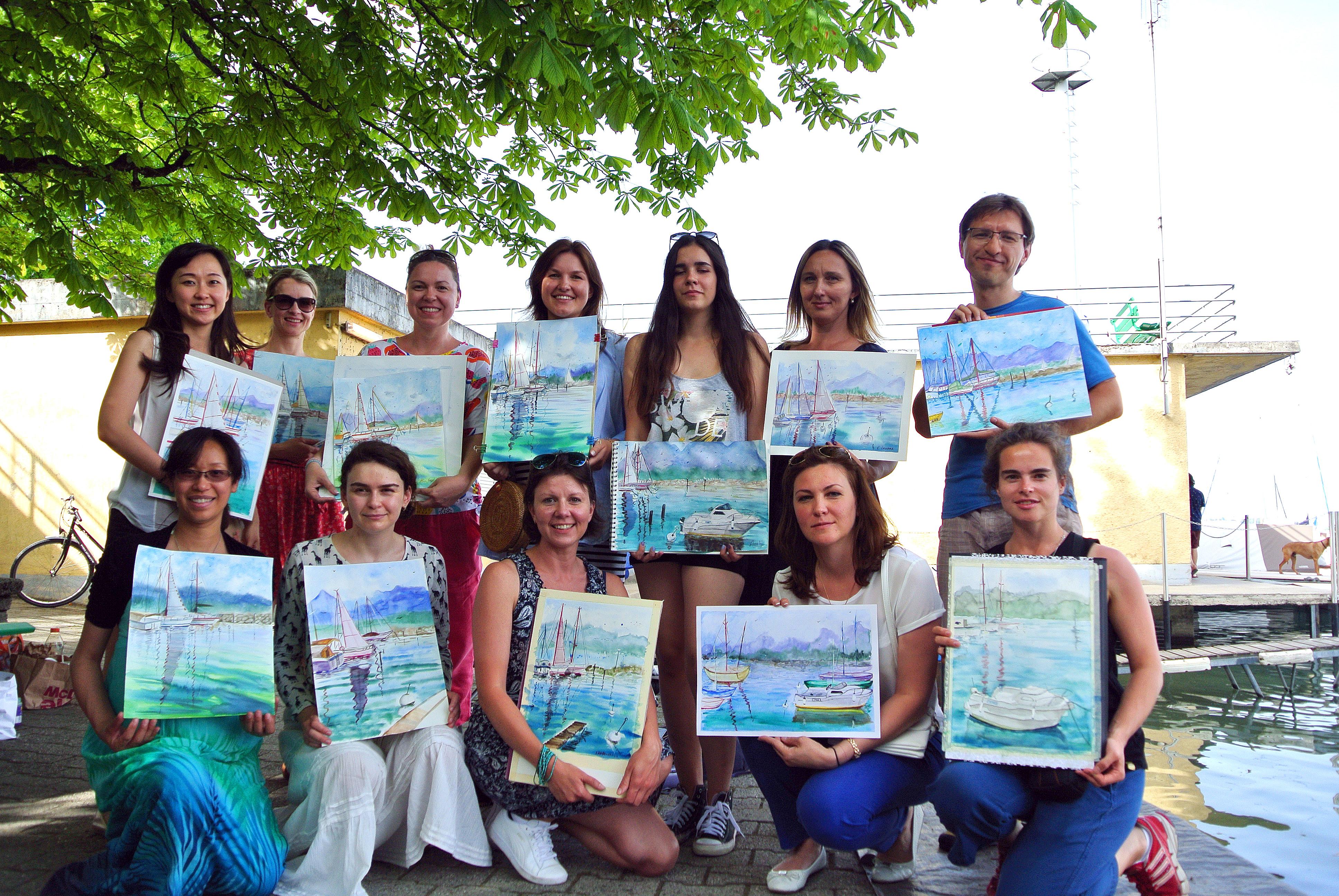 Lac Léman à l'aquarelle