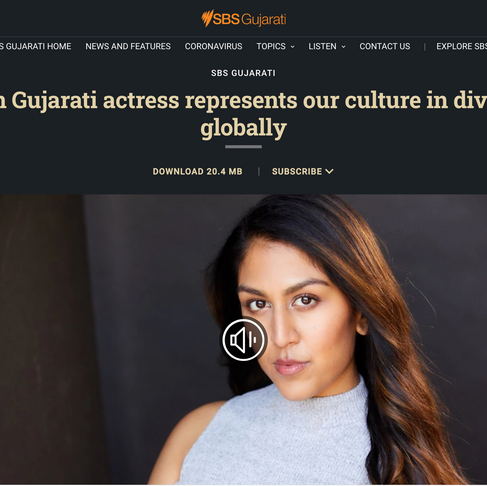 Australian Gujarati actress represents our culture in diverse films globally