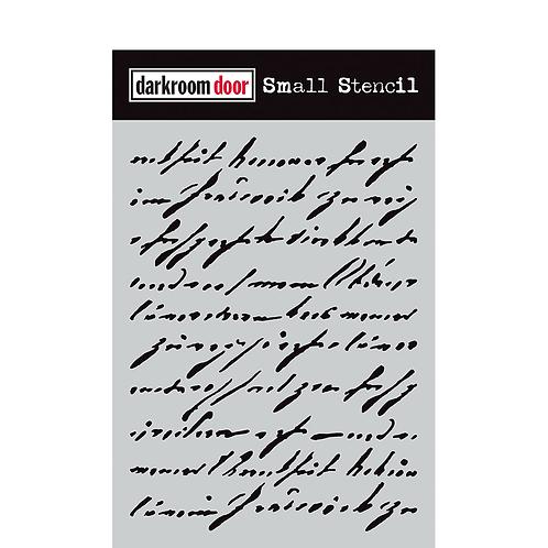 Handwritten Script Stencil