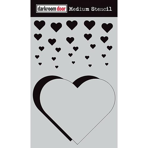 Cascading Hearts Stencil