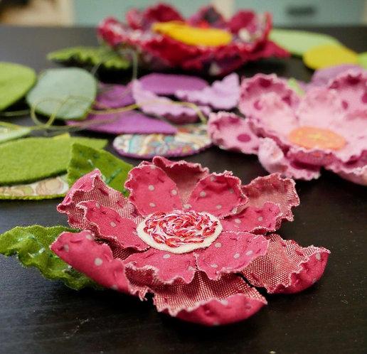 3D Flower Fabric