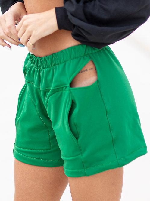 Short Boxer Vazado Verde