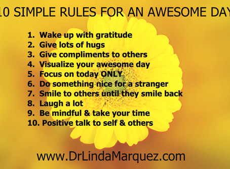 10 Simple Rules For An Awesome Day