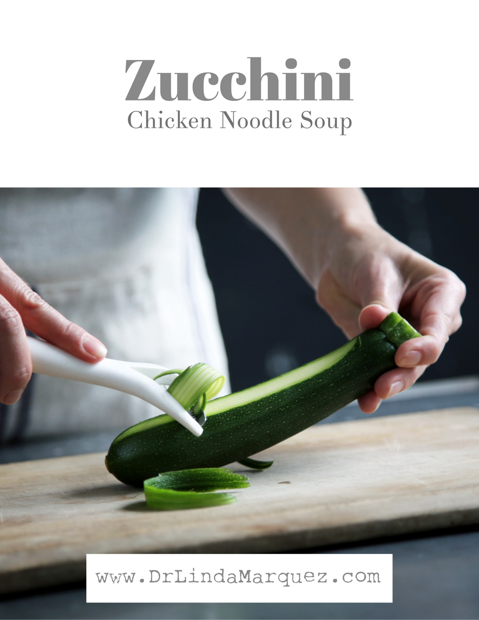 Low Carb Zucchini Chicken Noodle Soup