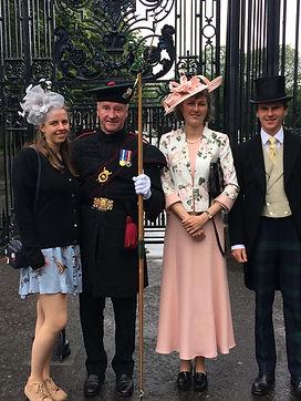 Richard and Family at Holyrood Garden Pa