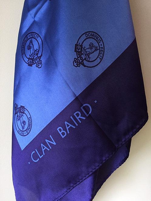 Blue Women's Clan Baird Silk Scarf