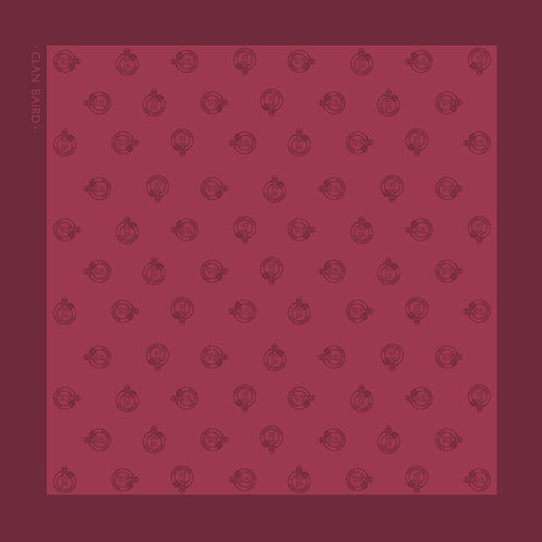 Burgundy Women's Clan Baird Silk Scarf