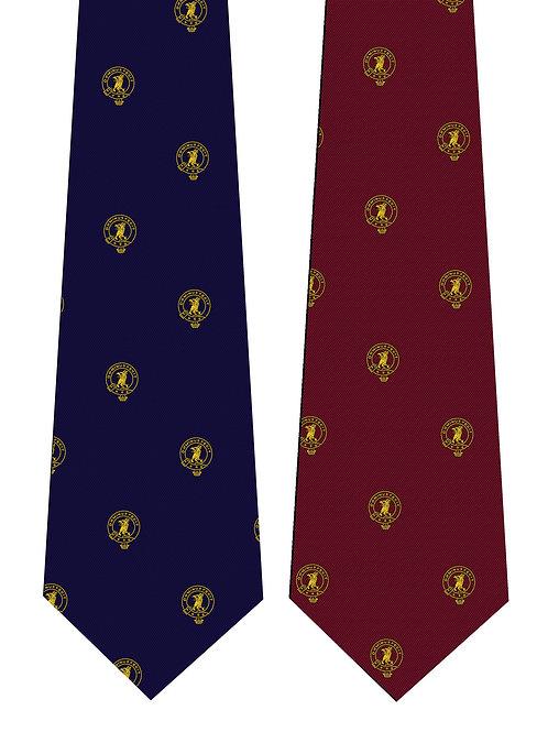 Burgundy Clan Baird Silk Tie
