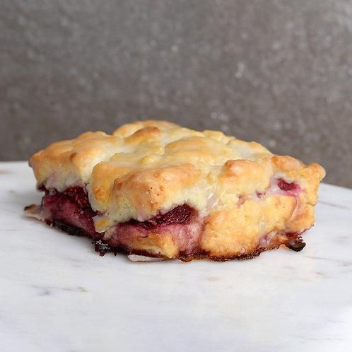 Raspberry Lychee Rose Scone