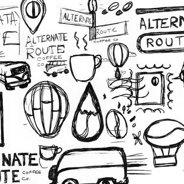 Kristin Gibson, Freelance Graphic Designer, Edmonton, Alberta, Alternate Route Coffee Company