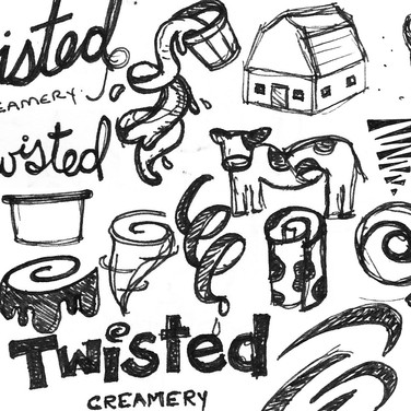 Kristin Gibson, Freelance Graphic Designer, Edmonton, Alberta, Twisted Creamery, Rolled Ice Cream