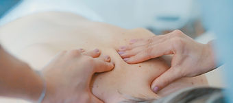 A person is receiving a relaxing and therapeutic massage.
