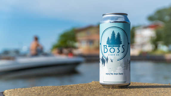 Boss Cider Can