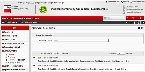 Brak aktualnych wpisów w BIP ZKGZL. A mamy nowych przedstawicieli Lubartowa.