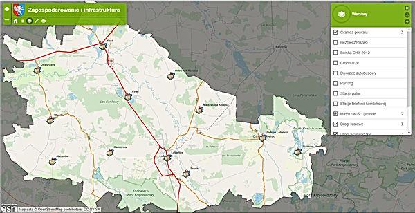 Powiat Lubartowski mapa