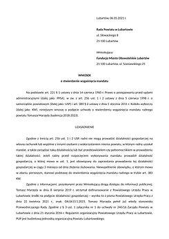 Wniosek o stwierdzenie wygaśnięcia manda