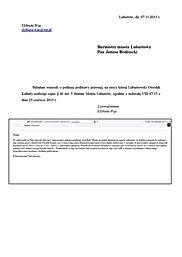Wideofilmowanie sesji Rady Miasta Lubartów