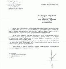 ZDP przejście Lubartów Szaniawskiego
