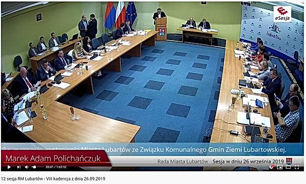 ZKGZL_sesja Rady Miasta Lubartów
