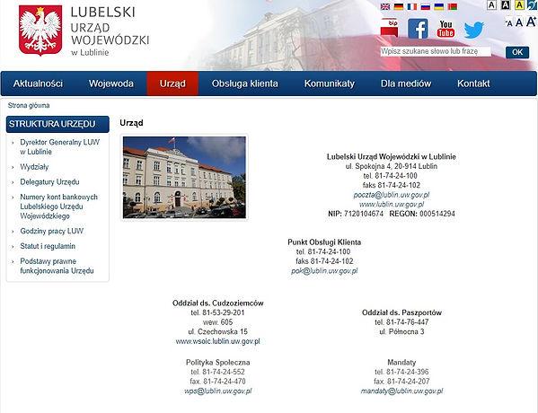 Urząd Wojewódzki w Lublinie