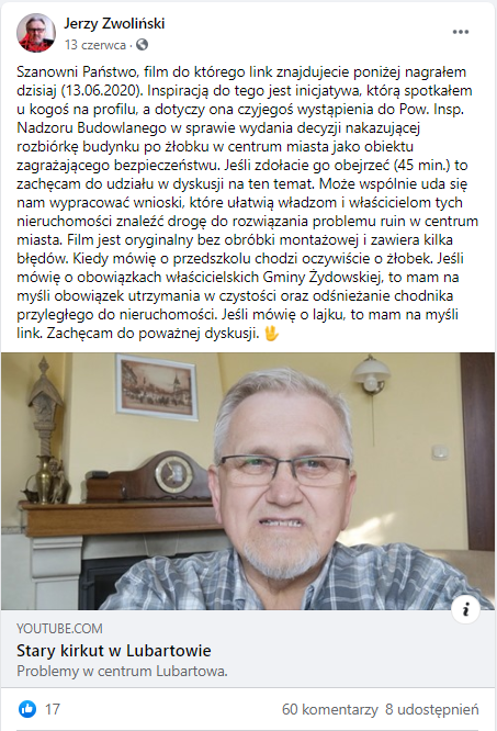 Jerzy Zwoliński na facebooku