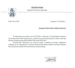 Odp._Sprawozdania Stowarzyszenia na rzecz Rozwoju Powiatu Lubartowskiego