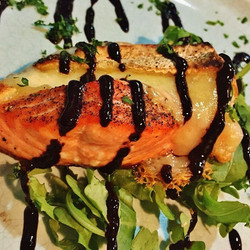Salmon and brie