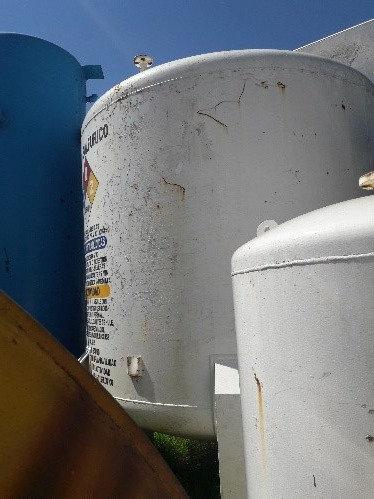 Tanque de ácido súlfurico 3.10 m de diámetro x 3.20 m de altura #083