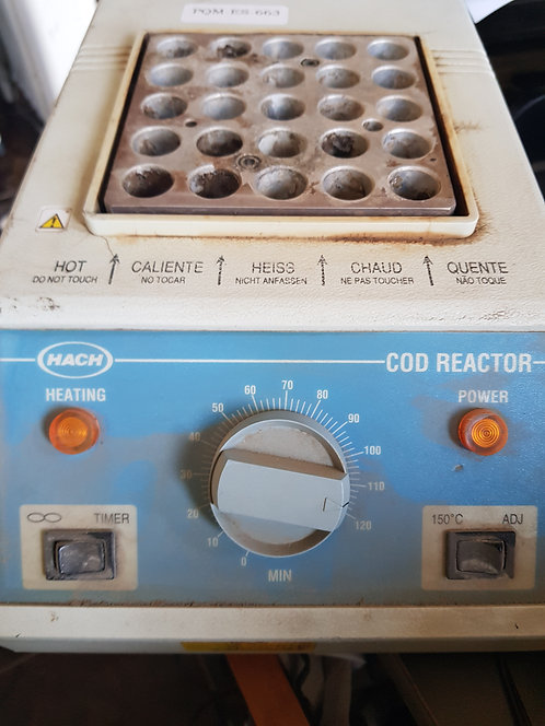 Calentador de tubos de ensayo Cod reactor #663
