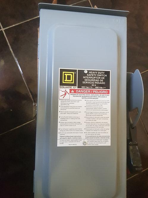 Interruptor de seguridad de servicio pesado 30A #498
