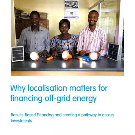 New white paper with SNV: localising RBF and investment-readiness support