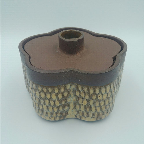 'Asymmetric flower' design  jar