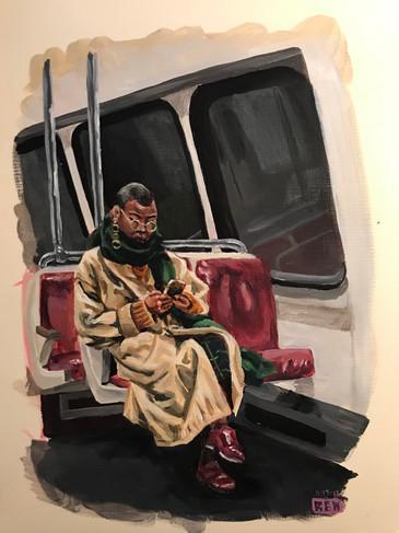 Woman on the Metro (#1)