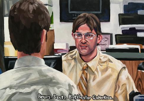 """Bears. Beets. Battlestar Gallactica."""