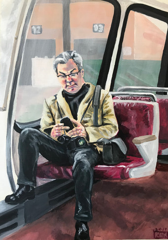 Man on the Metro (#2)