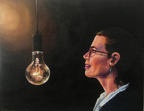 Spark of Creation (self-portrait)