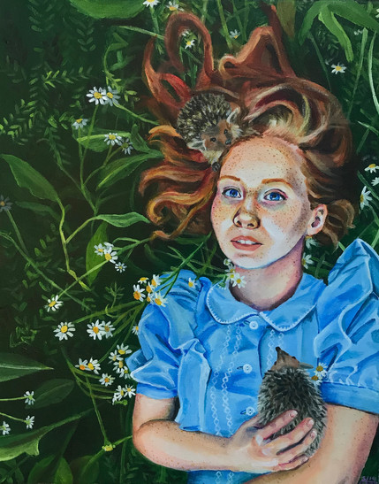 Girl with Porcupines