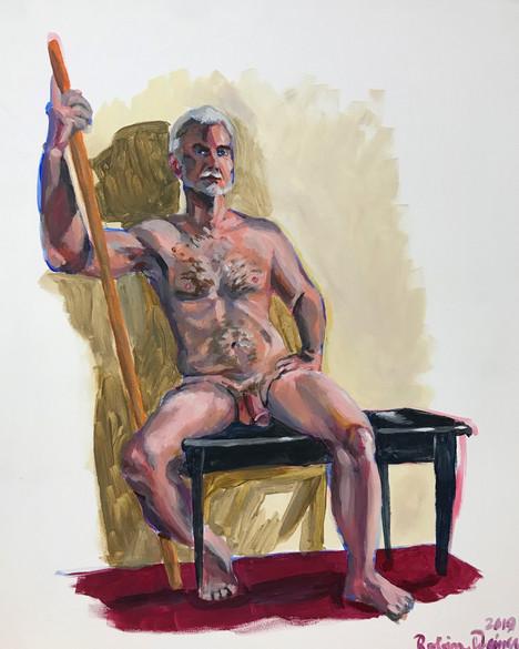 Seated nude (#19)