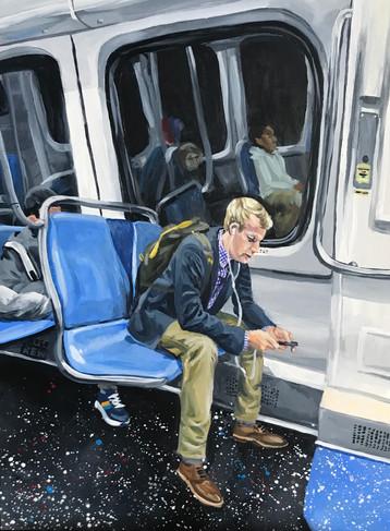 Commuter on the Metro (#4)