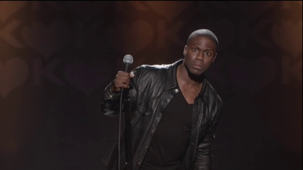Kevin Hart looks on in disbelief