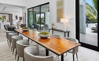 Tigerwood Dinning Table on Steel Base