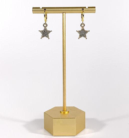 Gold Glitzy Stars