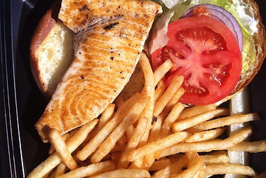 Swordfish sandwich , Malibu