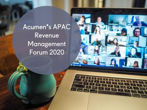 Acumen's APAC Revenue Management Forum 2020