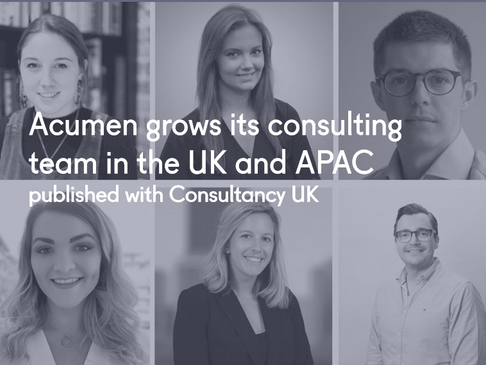Acumen grows its consulting team in the UK and APAC