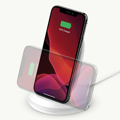 Belkin BOOST↑CHARGE™ 15W Wireless Charging Stand + QC 3.0 24W Wall Charger